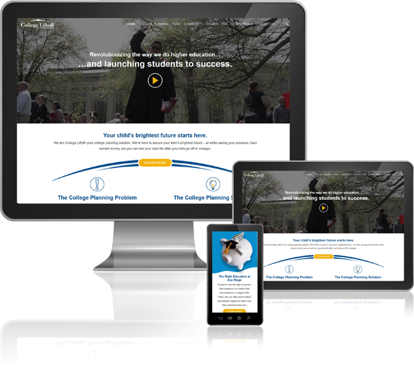 College Liftoff Responsive Website Design