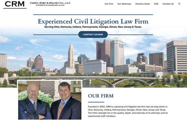 Wordpress, civil, litigation, law, firm, columbus, skyline,
