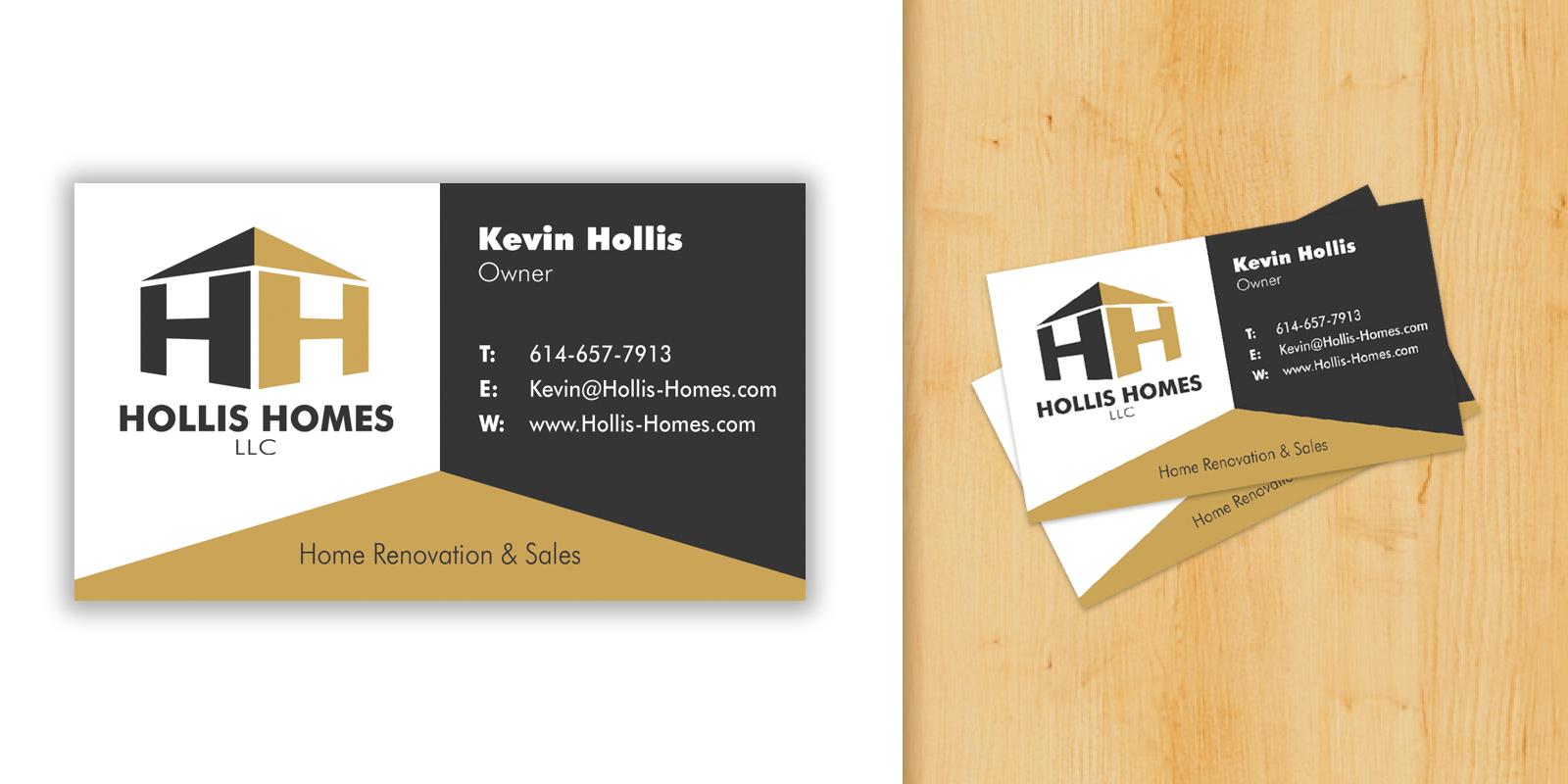 Hollis Homes Business Card