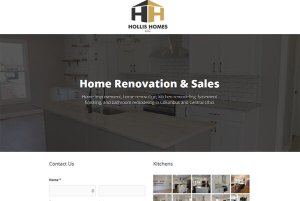 Columbus Hollis Homes Website Design and Build
