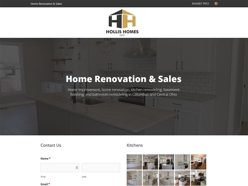 Columbus Hollis Homes Website Design and Build