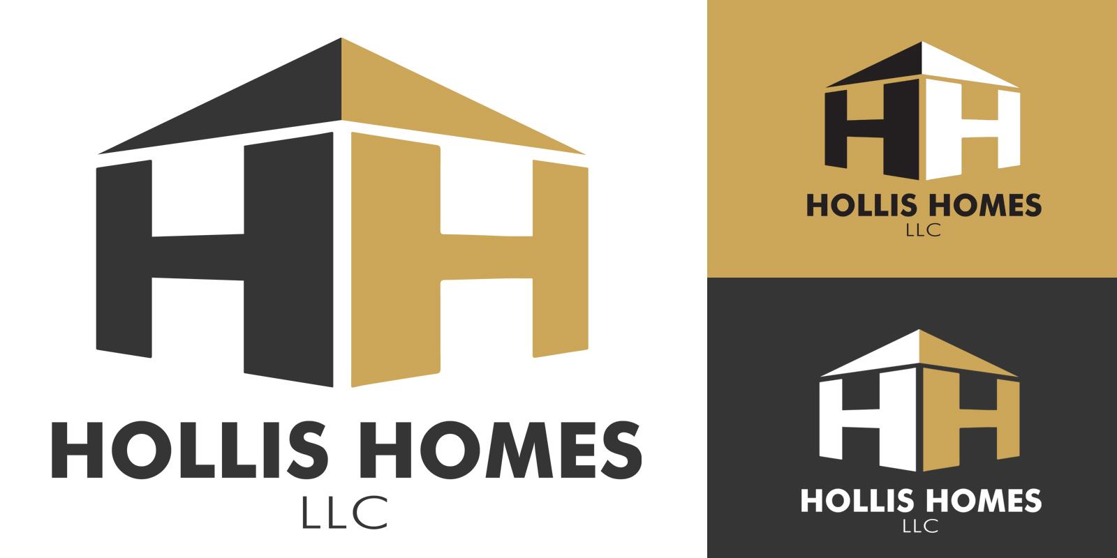 Hollis Homes logo variations