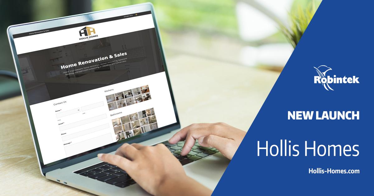 Hollis Homes new website launch