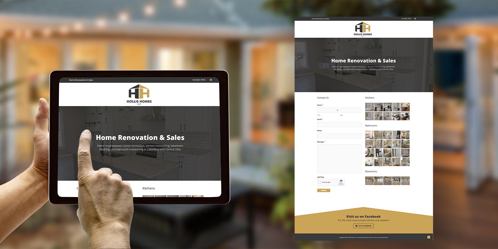 Hollis Homes website design