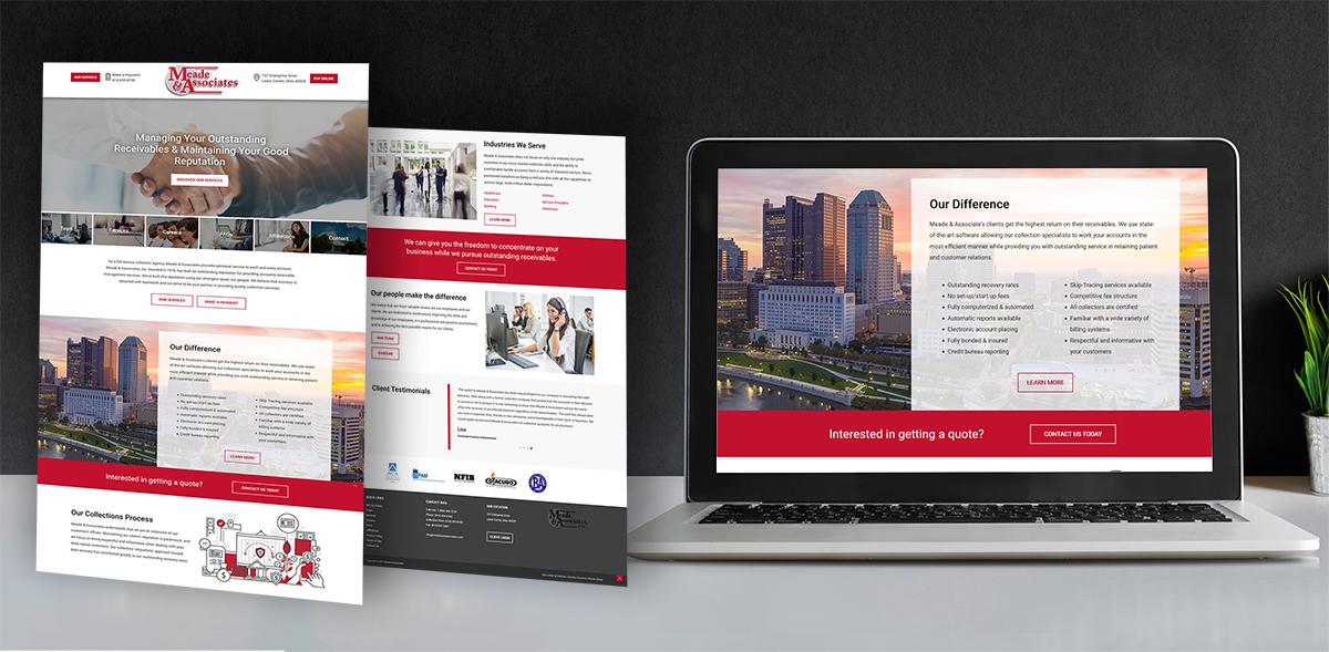 Meade and Associates website design image