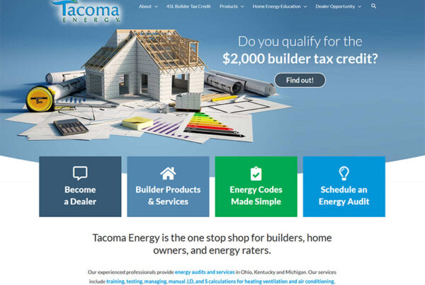 Columbus Tacoma Energy, Wordpress redesign rebuild