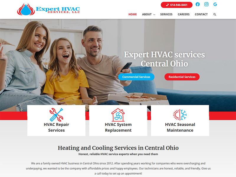 Columbus Expert HVAC website redesign and rebuild