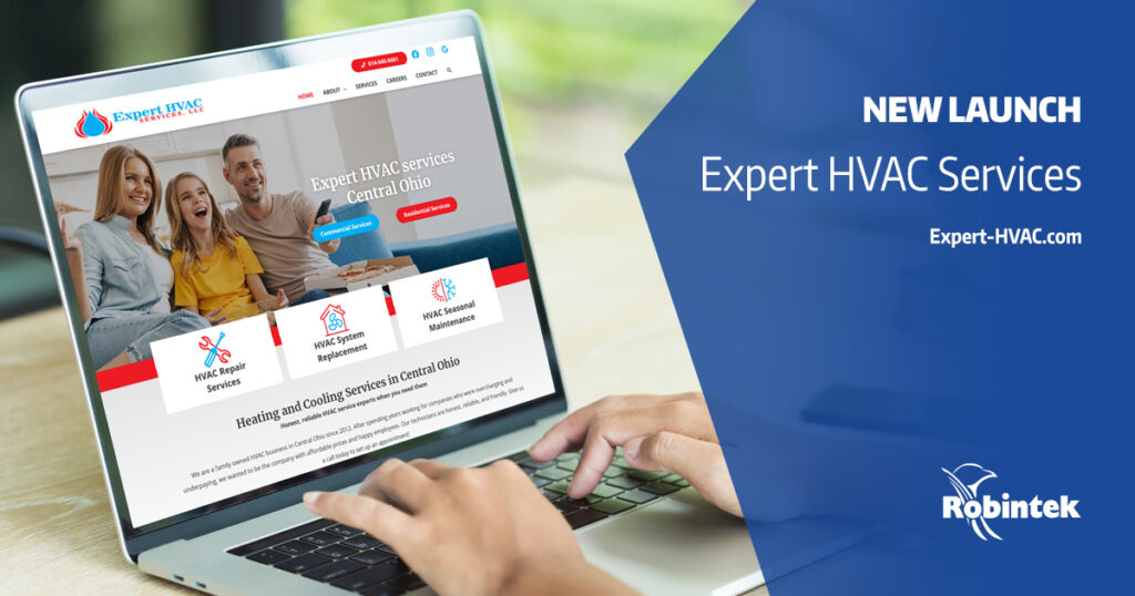 Expert HVAC services new website redesign and launch