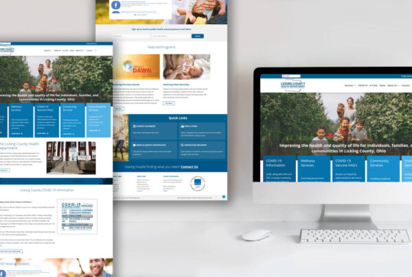 Licking County Health Department Website Design