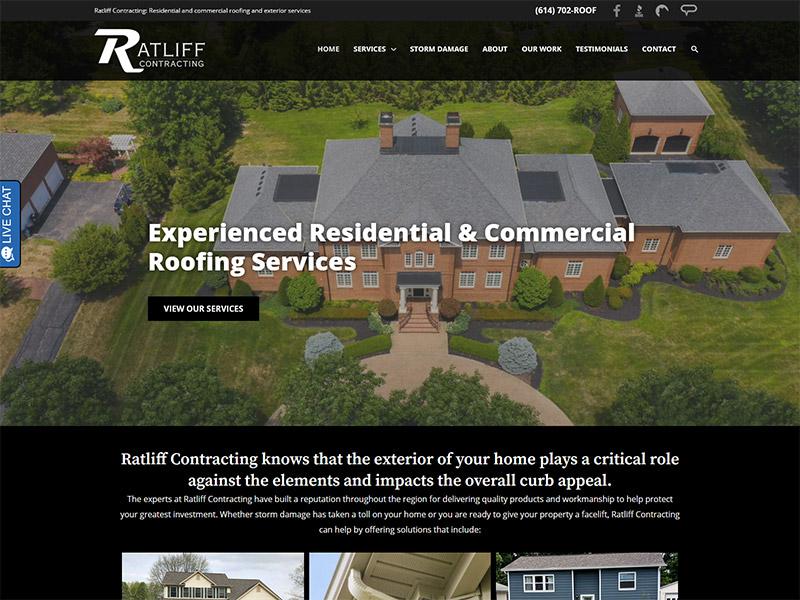 Columbus Ratliff Contracting Website design and rebuild wordpress