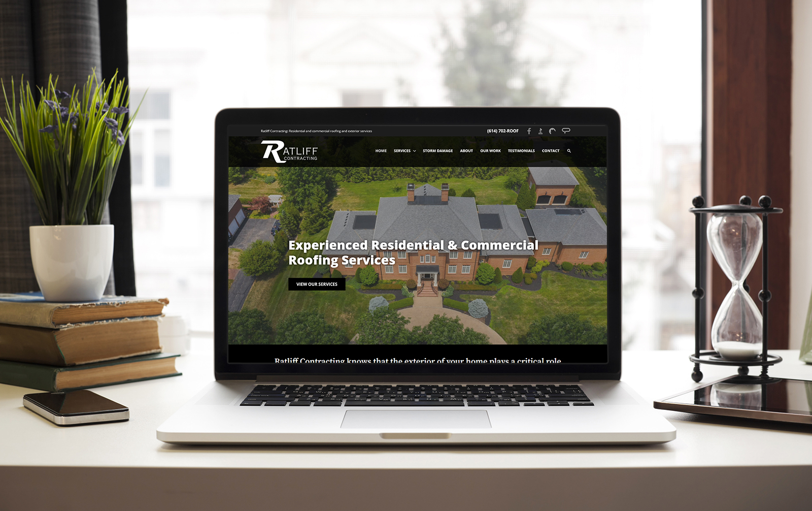 Website redesign by Robintek for Ratliff Contracting