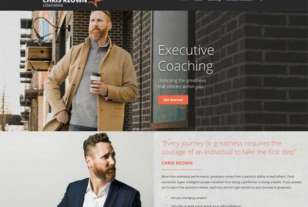 Columbus Chris Keown coaching website design, build and branding