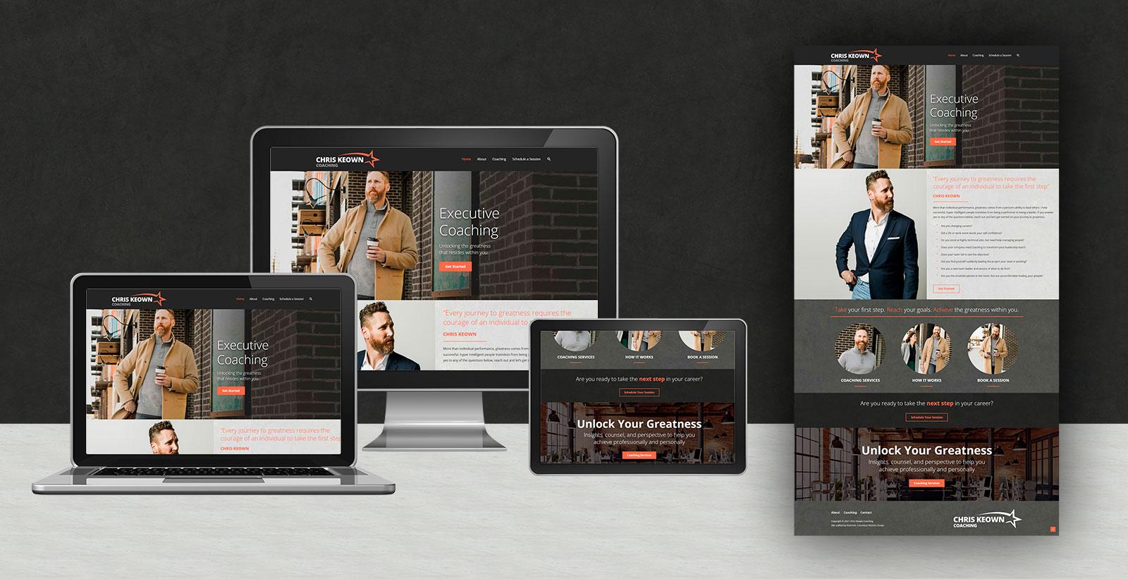responsive website design for Chris Keown