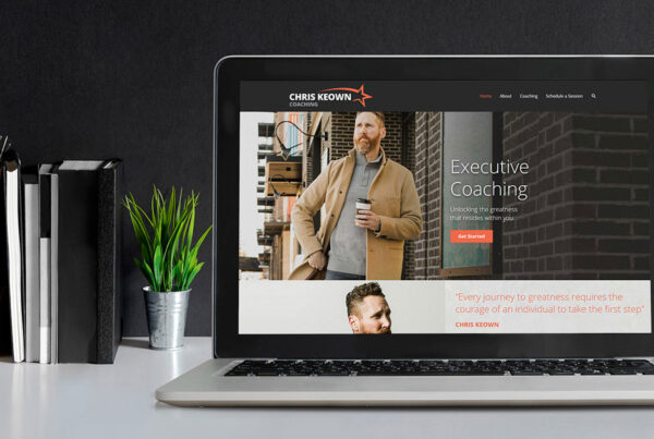 Website Design for Chris Keown shown on laptop