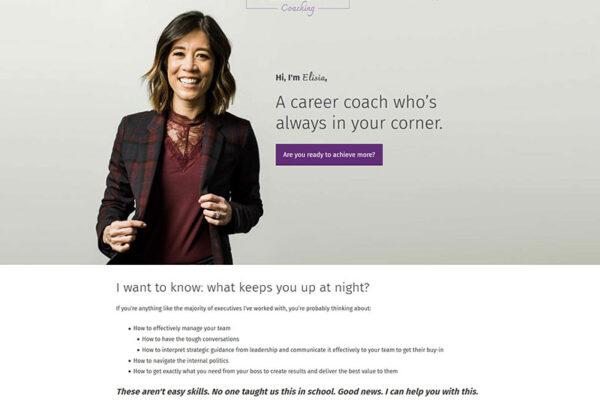Columbus Elisia Keown coaching website design, build and branding