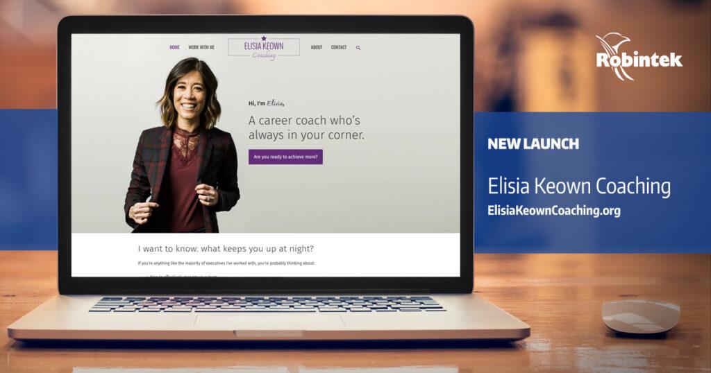 Elisia Keown Coaching New Website Design Launch