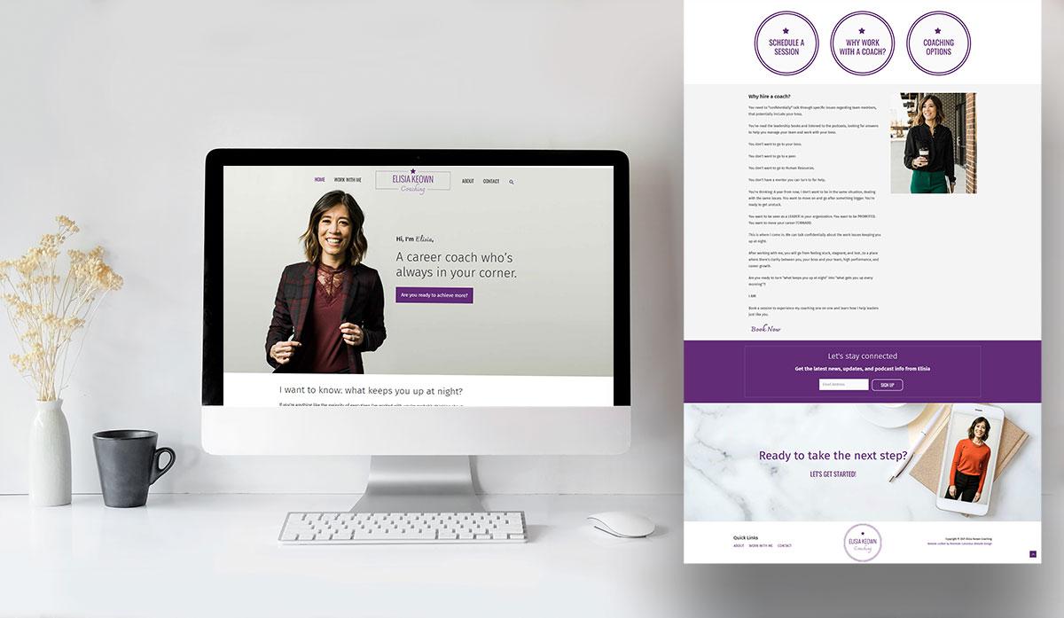 Elisia Keown website design and build