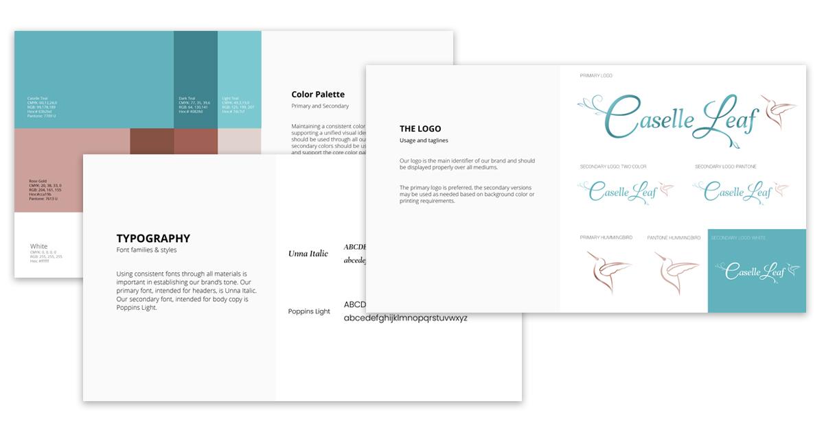 Branding guide for Caselle Leaf by Robintek