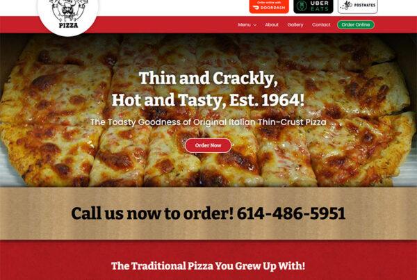 Columbus ohio panzeras pizza website design build