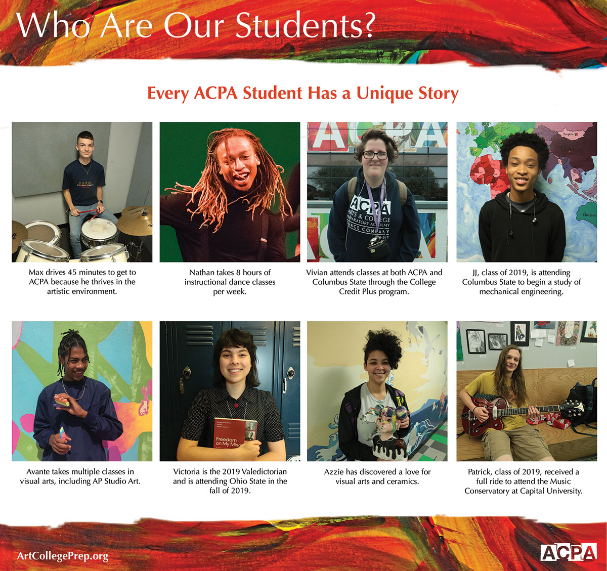 ACPA Who Are Our Students Flyer Design