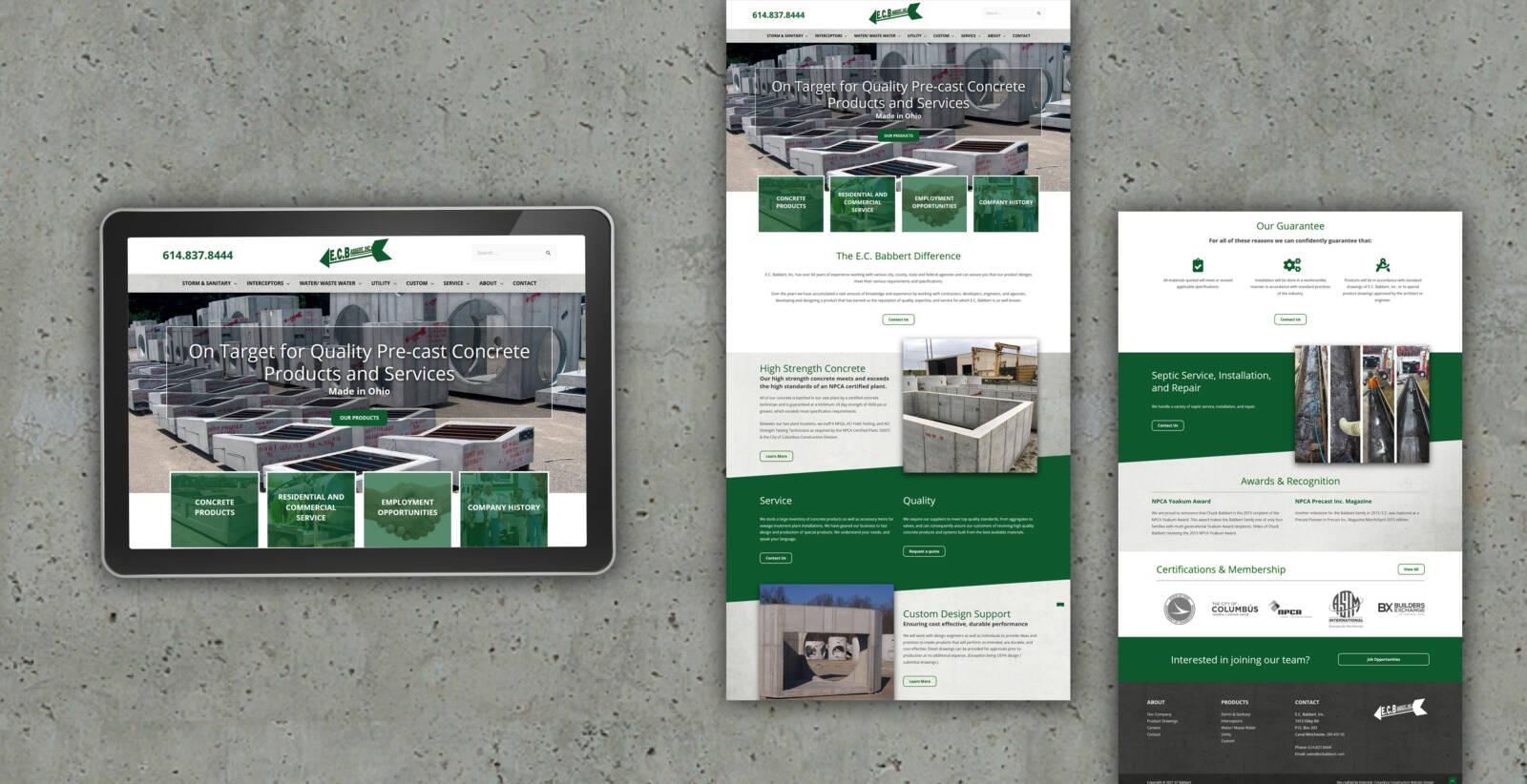 Robintek website design for EC Babbert Inc