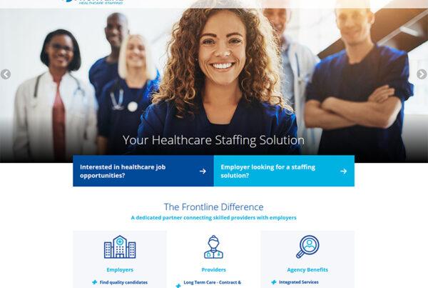 Frontline Healthcare Staffing Website Design