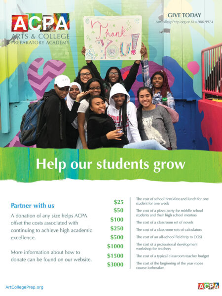ACPA middle school giving flyer design