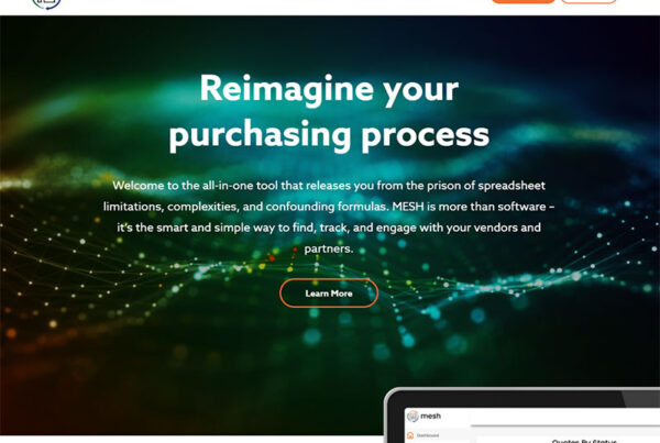 MESH Website Design by Robintek