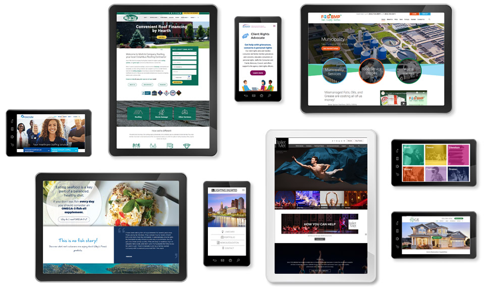 Web Designs Portfolio Multiple Devices