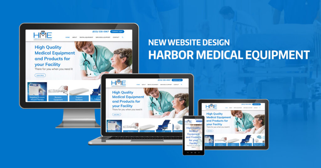 Website Design for Harbor Medical Equipment by Robintek