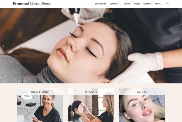 Columbus ohio permanent makeup room website redesign and rebuild