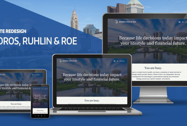Budros Ruhlin and Roe Website Design on various devices image