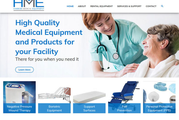 Columbus Ohio Harbor Medical Equipmentwebsite design and build