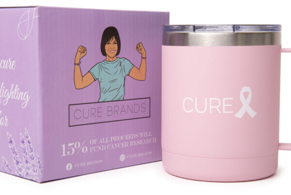 photo of cure brands tumbler and box, amazon product photography image by robintek