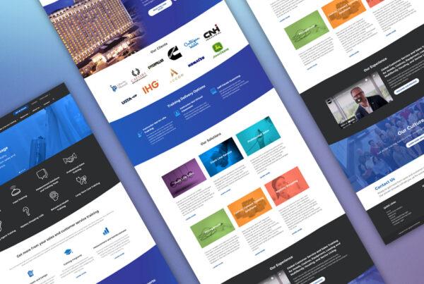 Signature Worldwide website rebuild by robintek homepage design