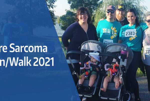 team photo for the cure sarcoma run/walk 2021
